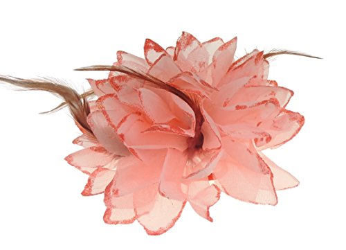 Haar Blume Fascinator Haar Krawatte Clip Coral ()