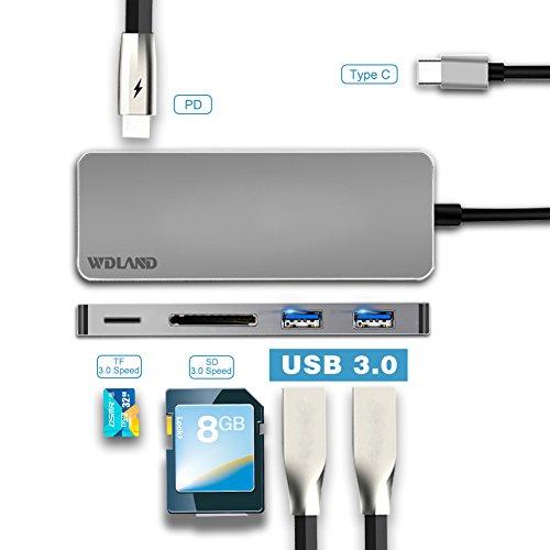 ARMANII USB c Hub, Typ c Hub mit Multi-Port-Adapter im Lieferumfang enthalten USB 3.0, Thunderbolt 3, 4K HDMI-Anschluss - nur MacBook Pro (5-in-1)