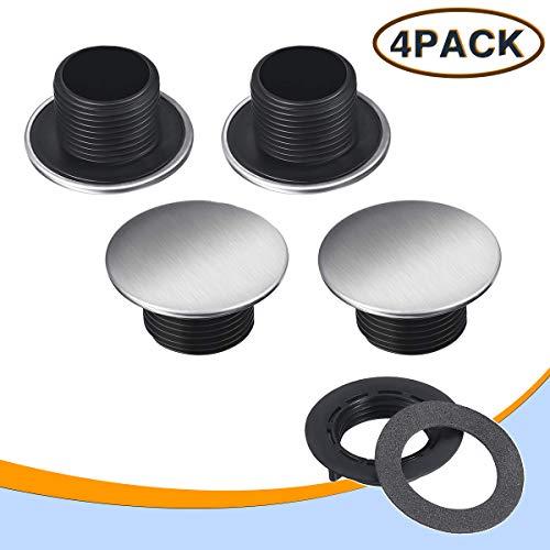 HJL 4 Packs Edelstahl Waschbecken Spülen Hahnloch Abdeckung Küchenarmatur Loch Abdeckung Küchenspüle Zubehör (36mm)