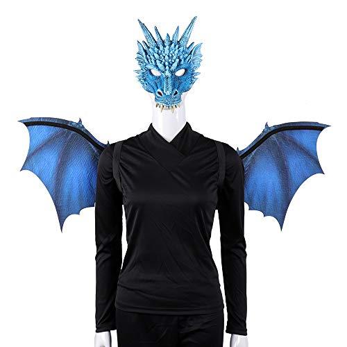 Dog Kostüm Für Muster Erwachsene - TZJ Halloween-Kostüm, für Halloween, CosplayPU-Kunststoff, mit Flügeln