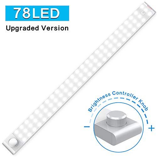 Cshidworld 78 LED Luz Armario Sensor Movimiento Armario Luz Nocturna Luz Interiores Armario Brillo Ajustable...
