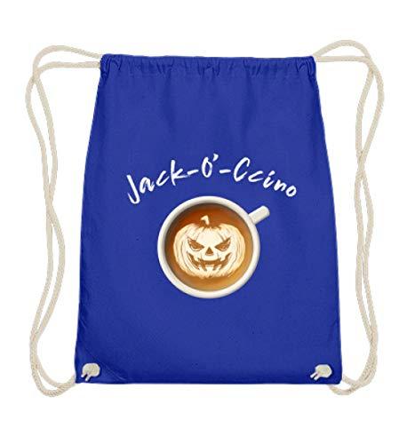(Jack O'Lantern Halloween Kürbis Cappuccino Barista Design Style - Für echte Kaffee-Freak - Baumwoll Gymsac)