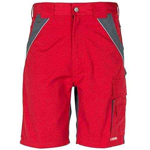 Planam Shorts Plaline, Größe XS, rot / schiefer, 2547040
