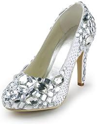Chaussure de mariée à cristales