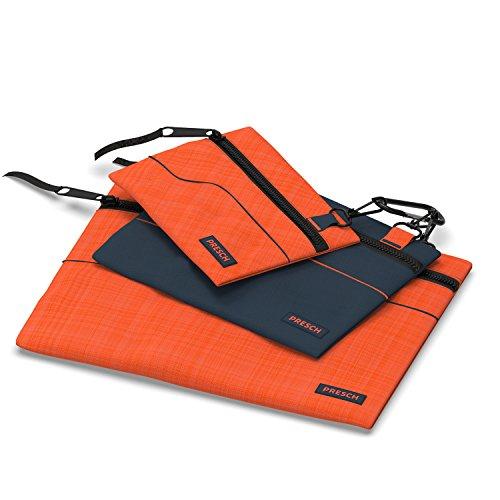 Presch Werkzeugtasche leer 3er Set - Schraubentasche mit Karabiner für Kleinteile wie Nagel, Schrauben und Muttern