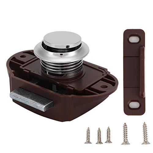 Knopfverschluss, Druckknopfsperre Aluminiumlegierung Keyless Door Knob Latch Lock für Boot RV Drawer Cabinet Türverriegelungsknopf - Cabinet Latch Lock