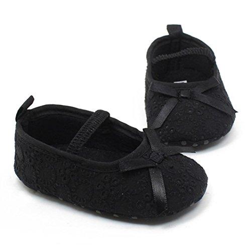 Saingace Bébés Filles Princesse Anti-dérapant Chaussures Chaussures deSport (12(11.5cm/6-12mois), Jaune) Noir