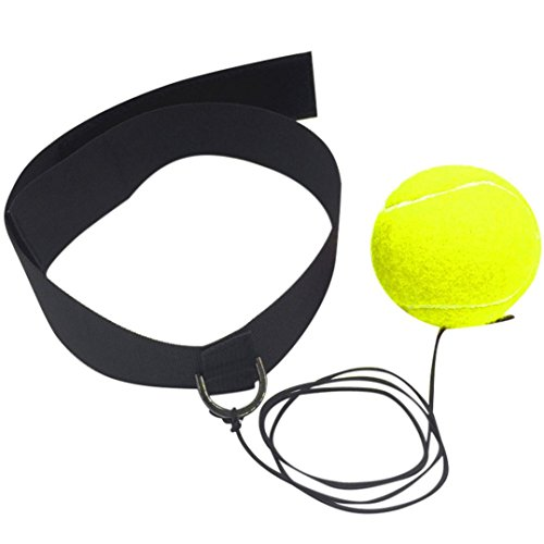 squarex Kampf Ball mit Kopf Band für Reflex Speed Training Boxen Boxing Punch M - Kopf Boxen