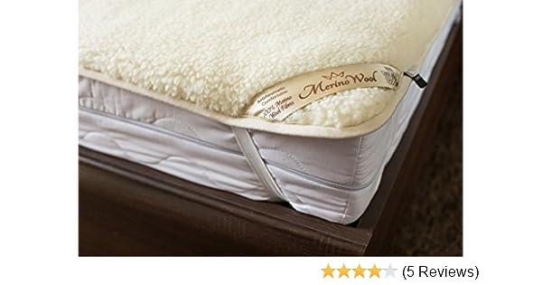 BESTSELLER WOOLMARK MERINO WOOL BLANKET BED COVER SOFA PAD NATURAL ALL SIZES