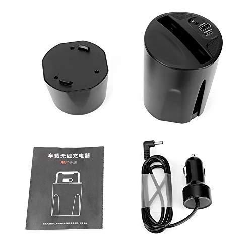 Liukouu Car Wireless Schnellladegerät Ladeschale Smart Phone Stand Schwarz (Mobile Ladeschale)