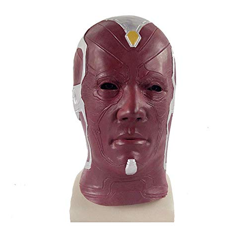 YaPin Avengers Vision Hood Cosplay Maske Halloween Horror Requisiten Marvel Videospiel Peripheral Helm (2 Avengers Die Vision)