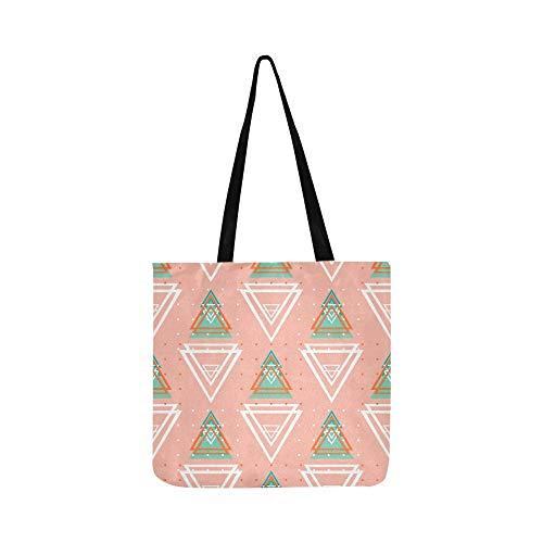 Abstrakte Geometrische Dreieck Leinwand Tote Handtasche Schultertasche Crossbody Taschen Geldbörsen Für Männer Und Frauen Einkaufstasche