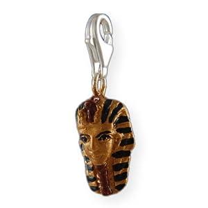 Melina Damen-Charm Anhänger Ägypten Pharao Emaile 925 Sterling Silber 1800697