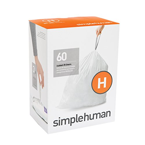 simplehuman Code H, Custom Fit Bin Liners, 60 Liners,, used for sale  Delivered anywhere in Ireland