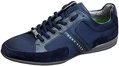 BOSS Verde Hombre Spacit 10167195 01 low-top zapatillas, color azul, talla 44 EU