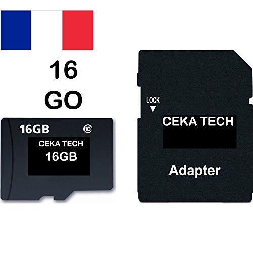 Tarjeta de Memoria Huawei Y7 2018, CEKA TECH® Micro-SD 16GB Clase 10 con Adaptador SD