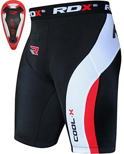 RDX Neopreno Compresión Pantalones Cortos Termicos Base Layer Calzoncillos Short Coquilla Boxer