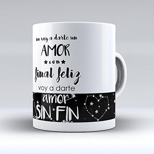 18 modelos de taza cerámica con mensaje de amor y asa de corazón