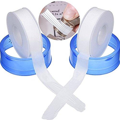 Milopon Versiegelungsmittel Tape, Industrie Versiegelungsmittel Klebeband PTFE Klebeband für Küche Wasserhahn Schlauch Kugelhahn Wasserdicht Armatur 20m 2pcs