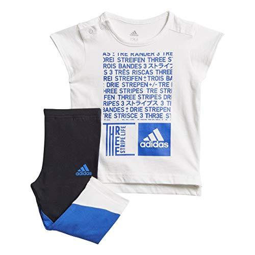 adidas Baby MinMe Set Trainingsanzug, White/Hi-Res Blue, 104