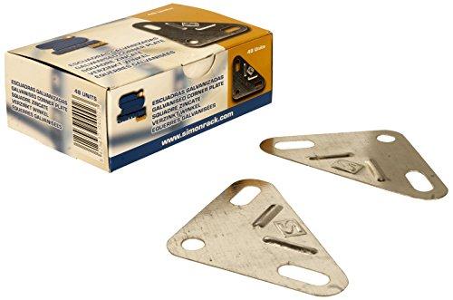 SimonRack 90130000021 - Caja de 48 escuadras, color galvanizado