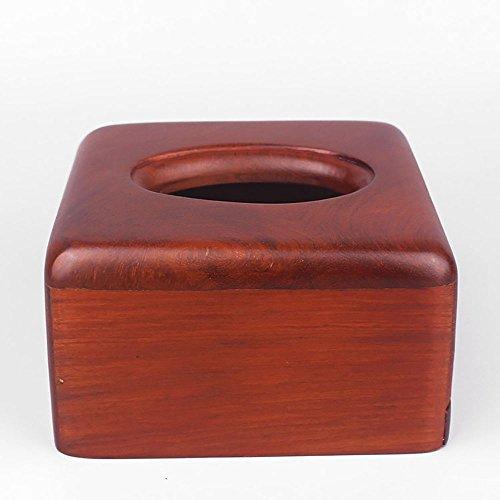 Pappbox ZQ Quadrat Tissue Box Kleine Nette Massivholz Mahagoni Einfache Palisander Buch Box Hotel Haushalt -