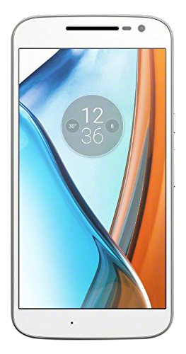 Moto G4 - Smartphone libre Android (5.5'', Full HD, 4G, 13 MP, 2 GB de RAM, 16 GB), color blanco