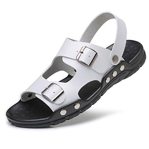 CUSTOME Hommes Chaussures Faux Cuir Appartement Été Vacances Boucle Loisir Poids Léger Open Toe Plage Mode Glisser sur Confort des Sandales
