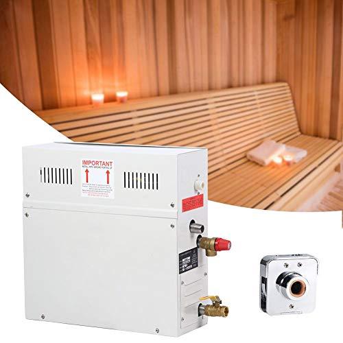 Nannday vapore per sauna, generatore di vapore per sauna con display a led da 6kw con controller accessori per attrezzatura da bagno per sauna sauna 220-380v per sauna domestica spa