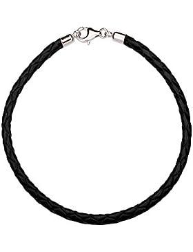 T400Juweliere Fünf Farbe Echtes Leder Armbänder kompatibel mit Pandora Perlen (19,1cm Länge)