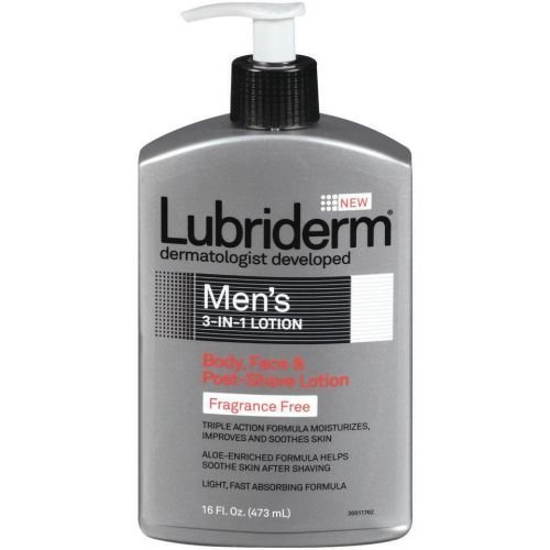 lubriderm-mens-3-in-1-fragrance-free-lotion16-fluid-ounce-12-per-case-by-lubriderm