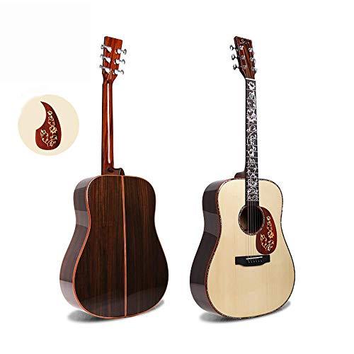 Hjyi Akustische Gitarre Fichte furnier Professionelle Spielen Folk Gitarre Gitarre High-end weiße Kiefer Gitarre (41 Zoll)