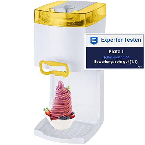 4in1 Gino Gelati GG-50W-A Yellow Softeismaschine Eismaschine Frozen Yogurt-Milchshake Maschine Flaschenkühler