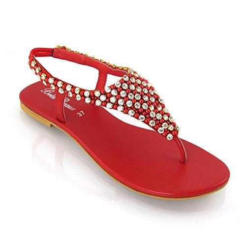 Fashion Footwear ,  Damen Sling Backs , Rot - rot - Größe: 37.5 (5 UK) Bella Sling