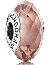 Original Pandora Element 791729 NBP Color Rosa farbene nuevo aristado Murano Charm