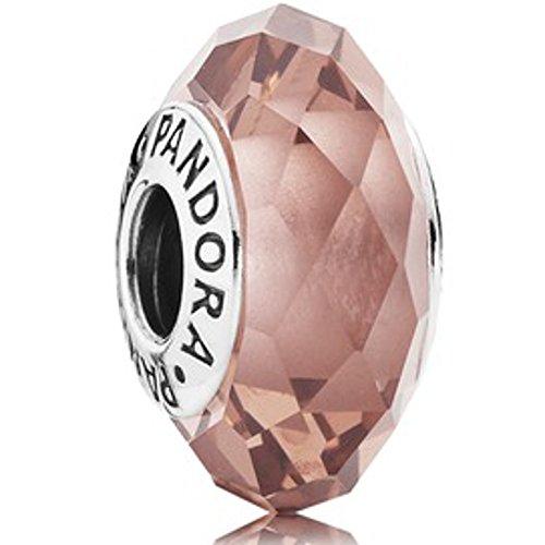 Originale pandora element 791729nbp rosa brilliant sfaccettature nuovo murano charm