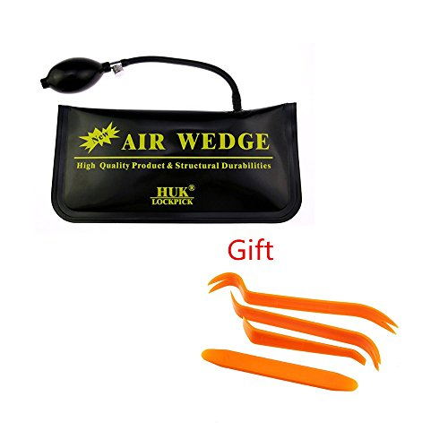 HUK Universal Air Pump Wedge with Auto Pry Bar for Vehicle Used