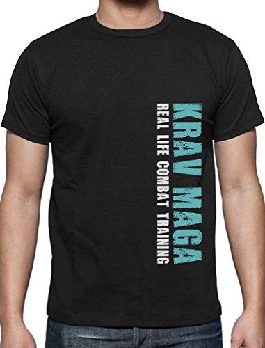 Ausgefallenes Geschenk - Krav Maga Combat Training T-Shirt Schwarz