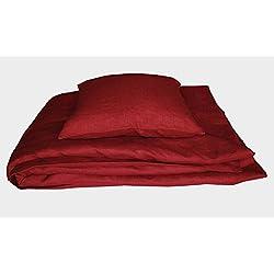 Unbekann Leinenshop24 Bettwäsche Set Leinen Rustikal Rot 100% Leinen 135x200/80x80 Neu+OVP + Limited Edition + Nur begrenzt Vorhanden!