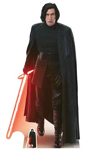 Star Einbauöffnungen Kylo Ren (die Letzten Jedi) Ausschnitt, Holz, Mehrfarbig, 188x 95x 188cm