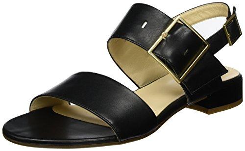 Högl Damen 3-10 1140 0100 Offene Sandalen mit Keilabsatz Schwarz (Schwarz0100)