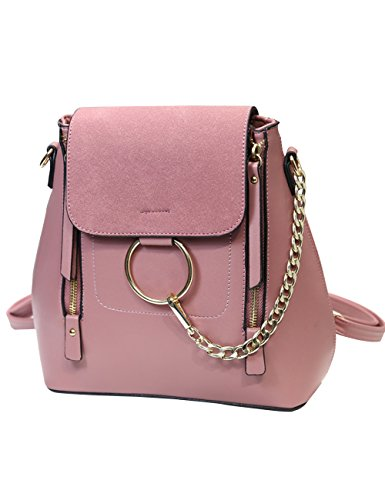 Menschwear PU Zaino Satchel Daypack sacchetto di scuola Verde Rosa