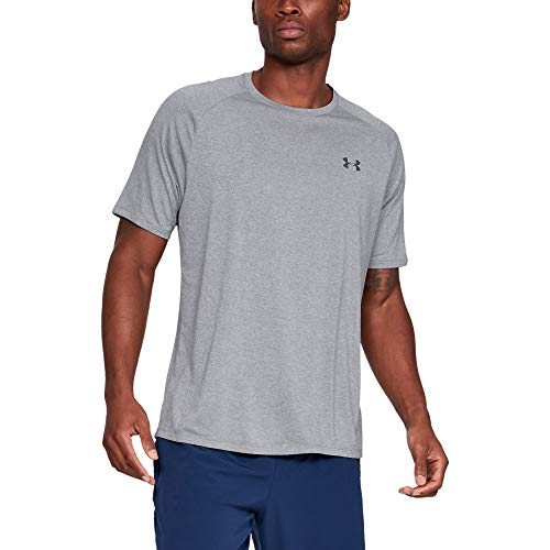 Under Armour Herren UA Tech 2.0 SS Tee' Kurzarmshirt, Grau (Steel Light Heather  (036), M (Dünne Under Armour)