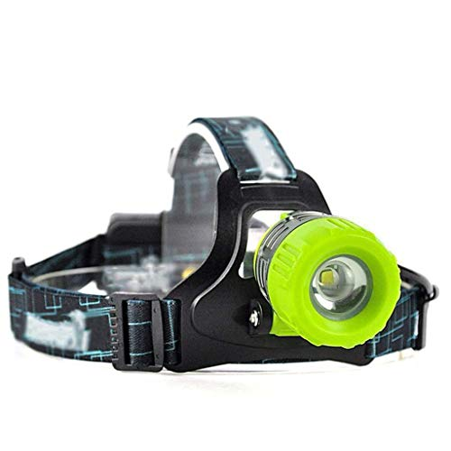 OPmeA USB Rechargeable Miners Lampe Expédition Phares Zoom Phares SOS Sifflet LED Randonnée en Plein Air Camping Phares