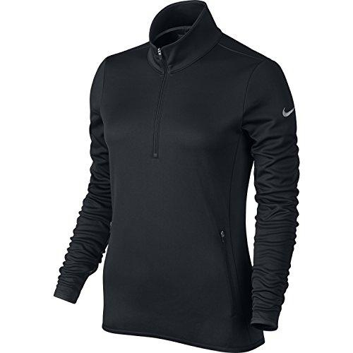 Nike Thermal 1/2Zip Langarm T-Shirt für Damen XL schwarz/Hellgrau