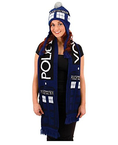 Elope Doctor Who Tardis-Schal (Kostüm Doctor Who Hat)