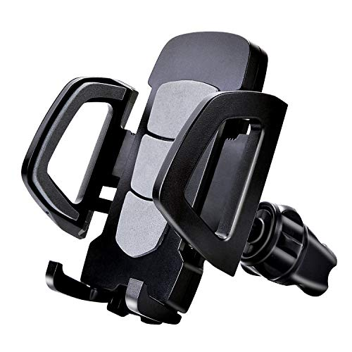 car Phone Mount, Antter Strong air Vent Phone Stand Holder with 360-degree Rotation and Twist-Locking Function for Smart Cell Phone GPS and More,for Car Black