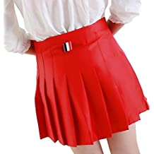 Dulce falda plisada hibote mujeres estilo de muy buen gusto Mini falda de cintura alta niñas faldas de uniformes escolares de la vendimia