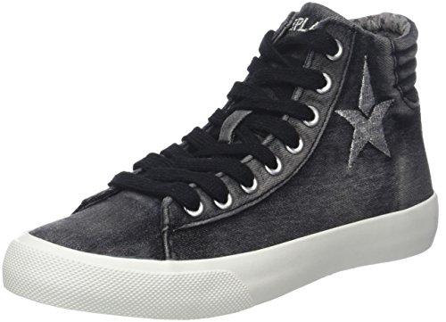 REPLAY Edna, Sneaker a Collo Alto Donna Nero (Black)