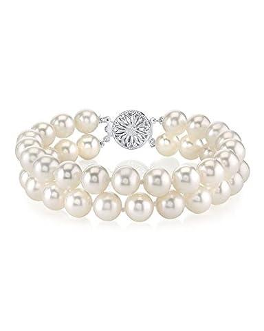The Pearl Source Argent 925/1000 Argent sterling Ronde Culture en eau douce Perle